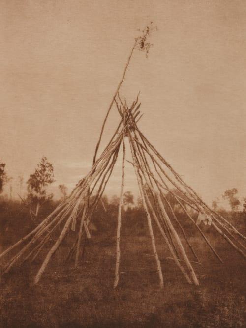 Frame of the Sponsor's Tipi. Cree Sun-Dance Curtis, Edward Sherrif  (American, 1868-1952)