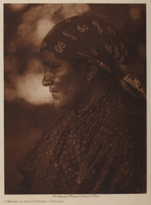 A Woman of Palm Springs – Cahuilla Curtis, Edward Sherrif  (American, 1868-1952)