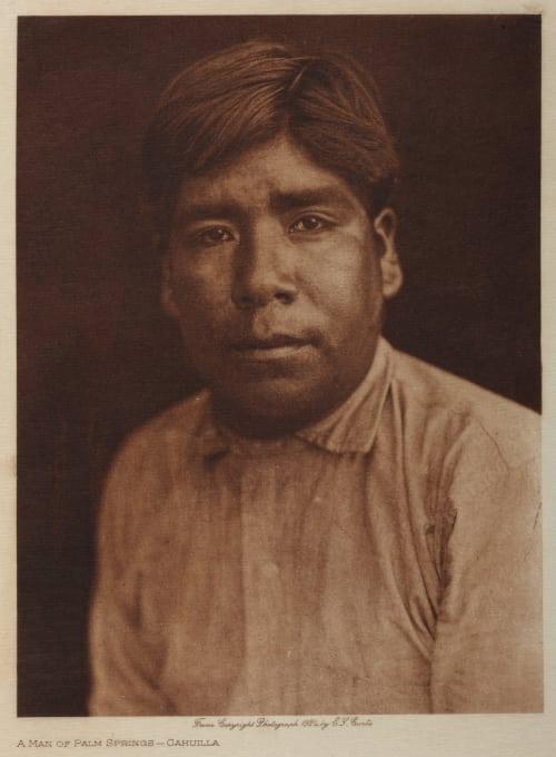 A Man of Palm Springs – Cahuilla Curtis, Edward Sherrif  (American, 1868-1952)