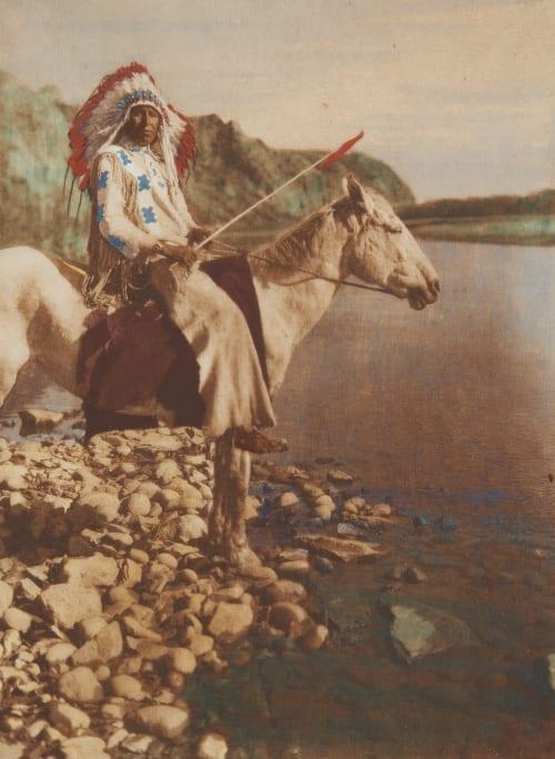 A Blackfoot Curtis, Edward Sherrif  (American, 1868-1952)