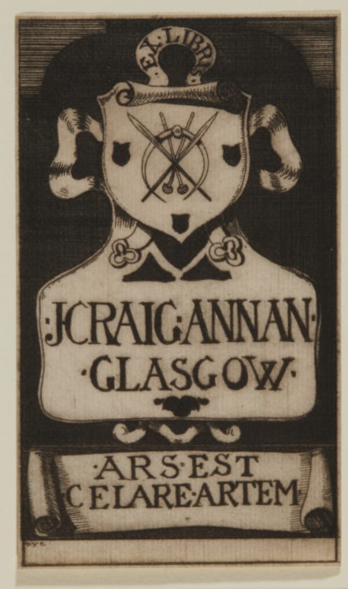 James Craig Annan's Bookplate Cameron, D.Y.   (British, 1865-1945)