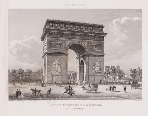 Arc de Triomphe de L'Etoile Chamouin, Jean Baptiste Marie  (French, 1768-1812)