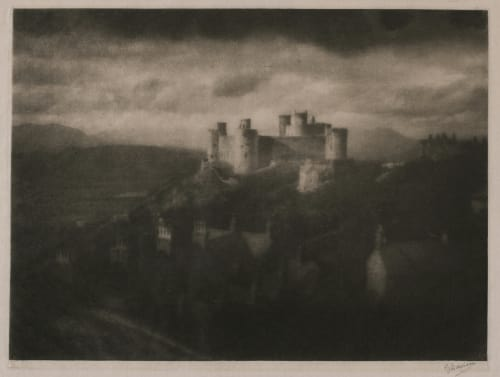 Harlech Castle (signed) Davison, George  (British, 1854-1930)