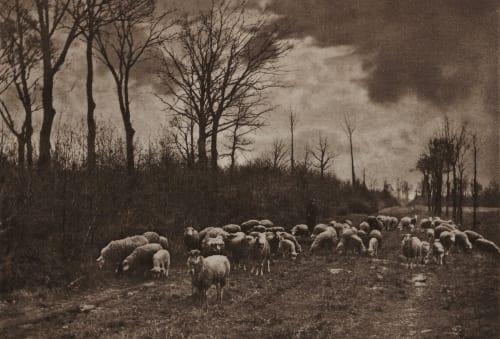 Frühlingsabend Scharf, Otto  (German, 1858-1947)