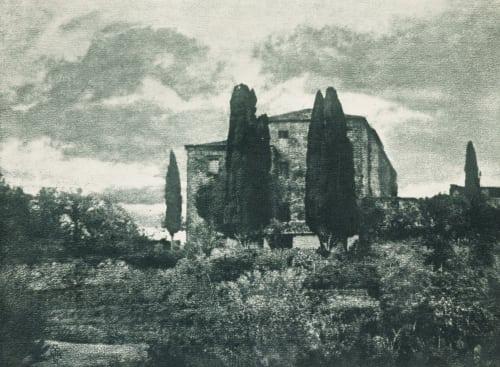 Italienische Villa Im Herbst Henneberg, Hugo  (Austrian, 1863-1918)