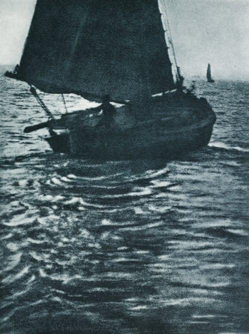 Auslaufendes Boot Kuehn, Heinrich  (Austrian-German, 1866-1944)