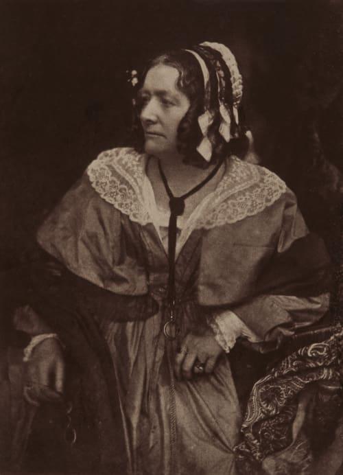 Mrs Jameson. Hill, David Octavious  (Scottish, 1802-1870)Adamson, Robert  (Scottish, 1821-1848)