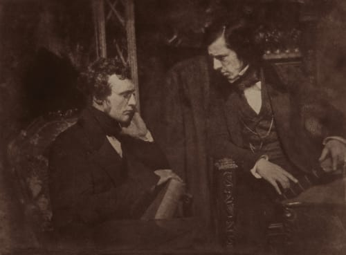 Dr Samuel Brown and Rev. George Gilfillan. Hill, David Octavious  (Scottish, 1802-1870)Adamson, Robert  (Scottish, 1821-1848)