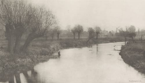 Plate VIII Stanstead From the Lea Emerson, Peter Henry  (British, 1856-1936)