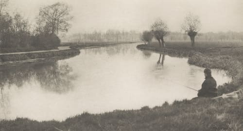 Plate IX The Black Pool, Near Hoddesdon Emerson, Peter Henry  (British, 1856-1936)