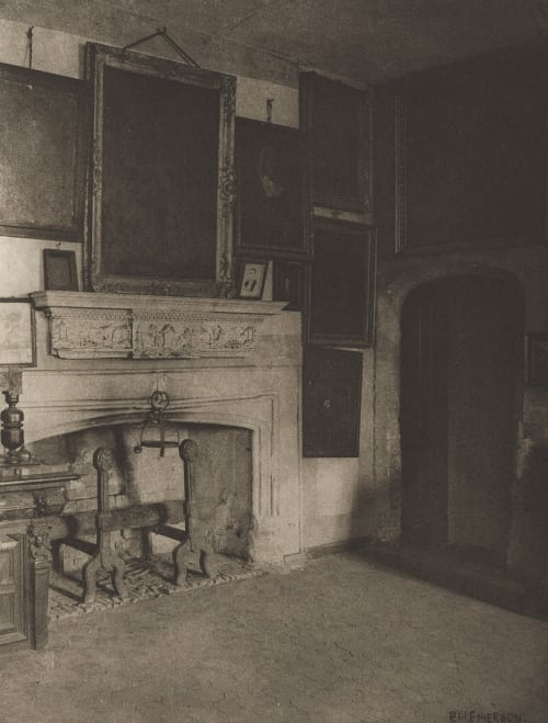 Plate XIV The Conspirators' Room, Old Rye House Emerson, Peter Henry  (British, 1856-1936)