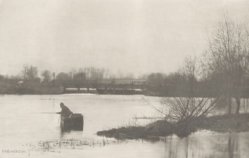 Plate XVII Field's Weir, Near Rye House Emerson, Peter Henry  (British, 1856-1936)