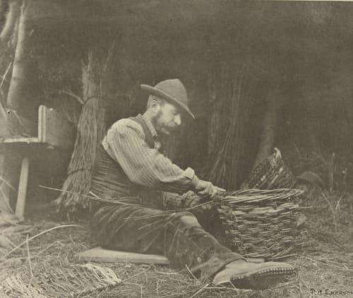 The Basket Maker Emerson, Peter Henry  (British, 1856-1936)