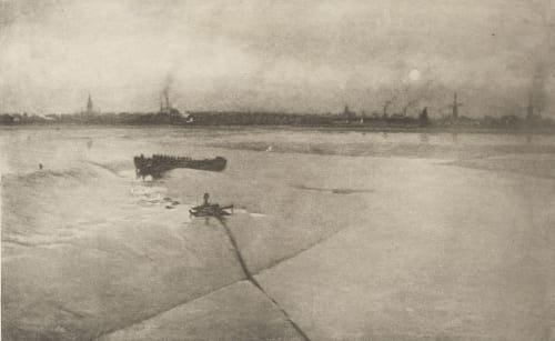 The Last Of The Ebb – Great Yarmouth From Breydon Emerson, Peter Henry  (British, 1856-1936)