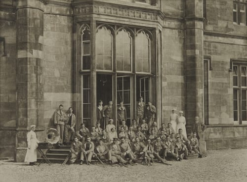 Group of Soldiers at Erskine House Annan, James Craig  (Scottish, 1864-1946)