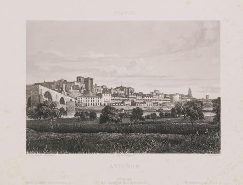 France. Avignon Lerebours, Noël Paymal  (French, 1807-1873)