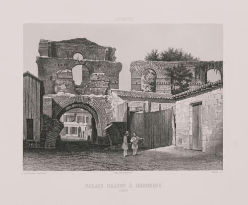 Guyenne. Palais Galien à Bordeaux Lerebours, Noël Paymal  (French, 1807-1873)