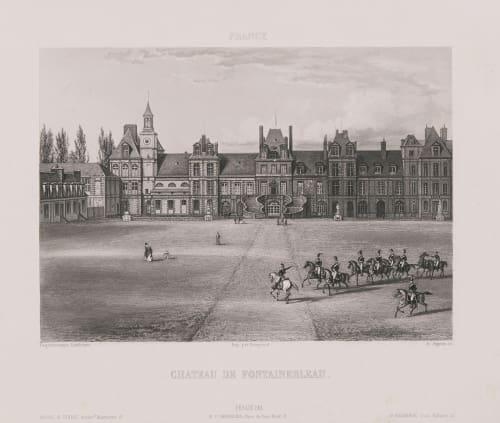 France. Château de Fontainebleau Lerebours, Noël Paymal  (French, 1807-1873)