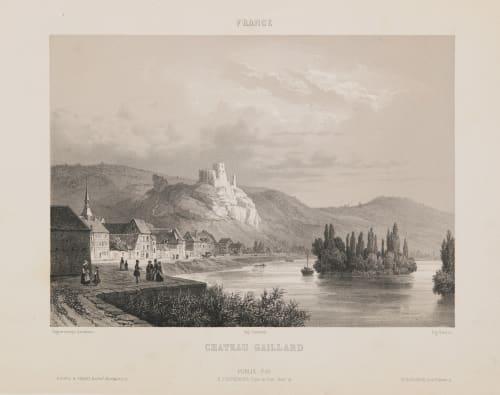 France. Château Gaillard Lerebours, Noël Paymal  (French, 1807-1873)