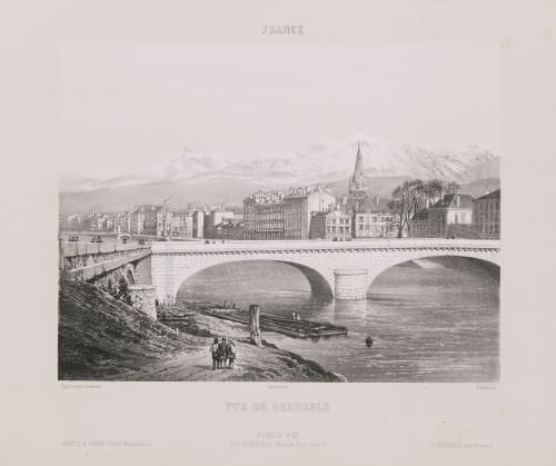 France. Vue de Grenoble Lerebours, Noël Paymal  (French, 1807-1873)