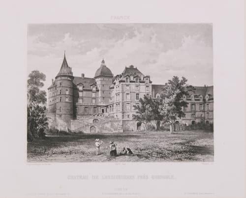 France. Château de Lesdiguières près Grenoble Lerebours, Noël Paymal  (French, 1807-1873)