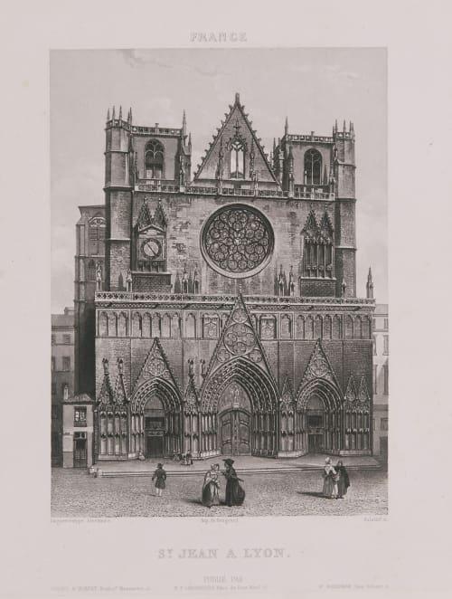 France. St Jean à Lyon Lerebours, Noël Paymal  (French, 1807-1873)