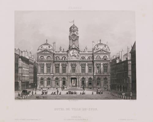 France. Hôtel de Ville de Lyon Lerebours, Noël Paymal  (French, 1807-1873)