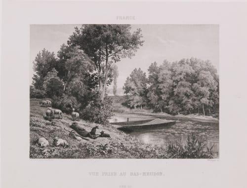 France. Vue prise au Bas-Meudon Lerebours, Noël Paymal  (French, 1807-1873)