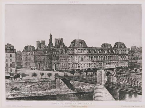 France. Hôtel de Ville de Paris Lerebours, Noël Paymal  (French, 1807-1873)