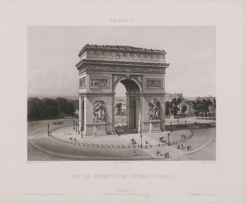 France. Arc de Triimphe de l'Etoile à Paris Lerebours, Noël Paymal  (French, 1807-1873)