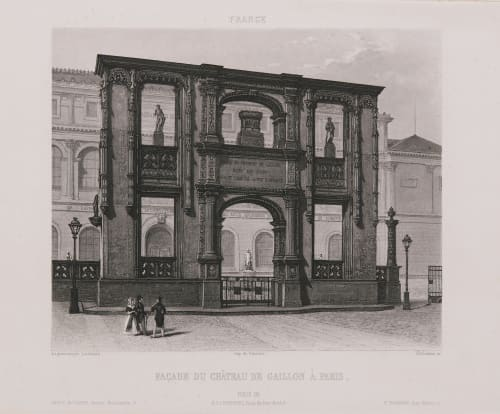 France. Façade du château de Gaillon à Paris Lerebours, Noël Paymal  (French, 1807-1873)