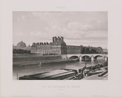 France. Vue du pavillon de Flore. Tuileries Lerebours, Noël Paymal  (French, 1807-1873)