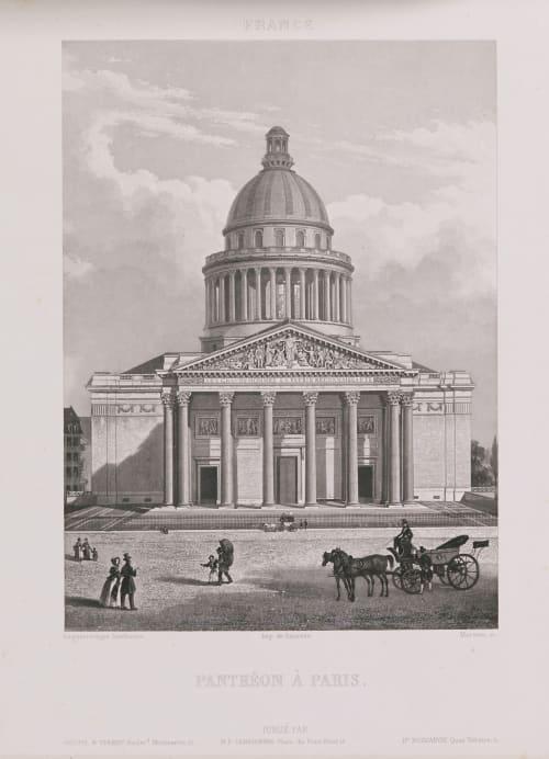 France. Panthéon à Paris Lerebours, Noël Paymal  (French, 1807-1873)