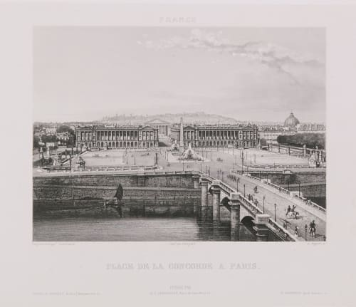 France. Place de la Concorde à Paris Lerebours, Noël Paymal  (French, 1807-1873)