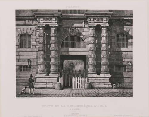 Porte de la bibliothèque du roi à Paris Lerebours, Noël Paymal  (French, 1807-1873)