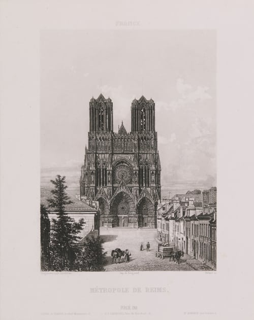 France. Métropole de Reims Lerebours, Noël Paymal  (French, 1807-1873)