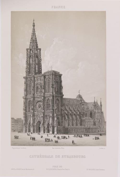 France. Cathédrale de Strasbourg Lerebours, Noël Paymal  (French, 1807-1873)