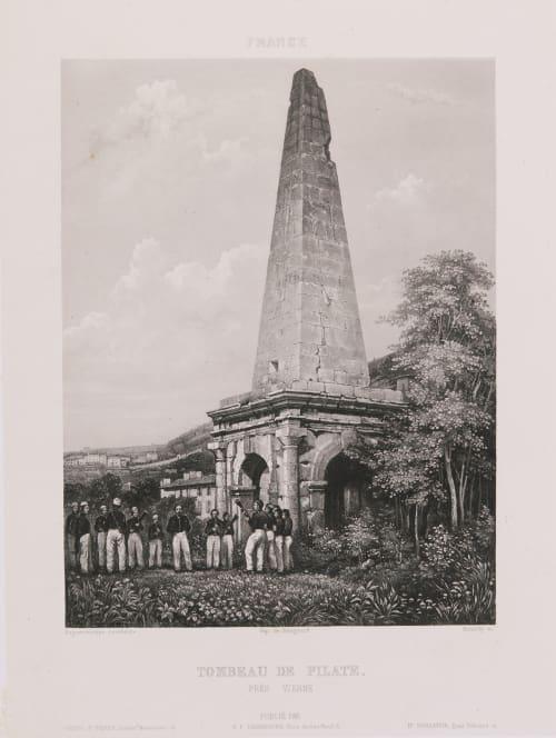 France. Tombeau de Pilate près Vienne Lerebours, Noël Paymal  (French, 1807-1873)