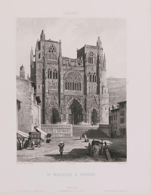 France. St Maurice à Vienne Lerebours, Noël Paymal  (French, 1807-1873)