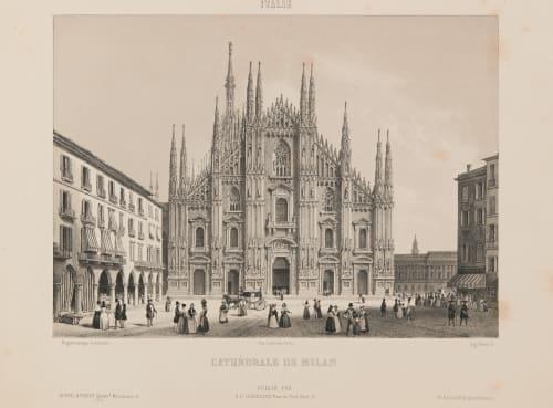 Italie. Cathédrale de Milan Lerebours, Noël Paymal  (French, 1807-1873)