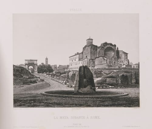 Italie. La Meta Sudante à Rome Lerebours, Noël Paymal  (French, 1807-1873)