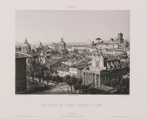 Italie. Vue prise du Campo Vaccino à Rome Lerebours, Noël Paymal  (French, 1807-1873)