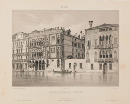 Italie. Palais Ca-Doro à Venise Lerebours, Noël Paymal  (French, 1807-1873)