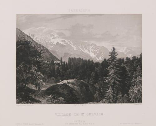 Sardaigne. Village de St Gervais Lerebours, Noël Paymal  (French, 1807-1873)