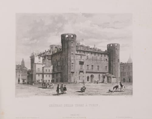 Italie. Château delle Torri à Turin Lerebours, Noël Paymal  (French, 1807-1873)