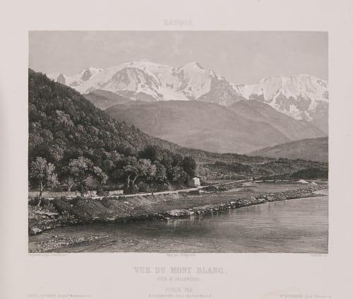 Savoie. Vue du Mont Blanc prise de Sallanches Lerebours, Noël Paymal  (French, 1807-1873)