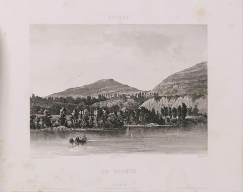 Suisse. Le Salève Lerebours, Noël Paymal  (French, 1807-1873)