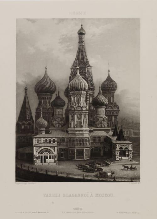 Eglise de Vassili Blagennoï à Moscou Lerebours, Noël Paymal  (French, 1807-1873)