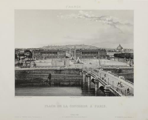 Place de la Concorde a Paris Lerebours, Noël Paymal  (French, 1807-1873)