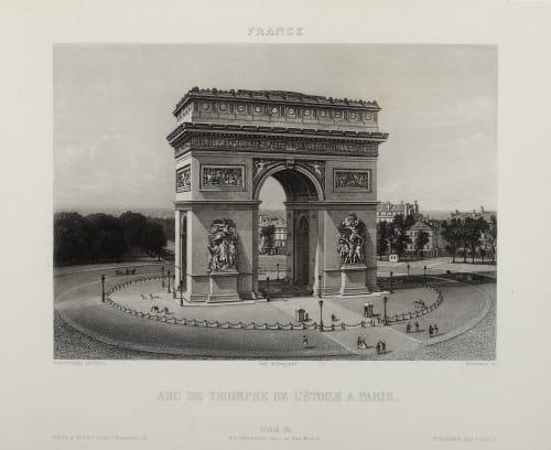 Arc de Triomphe de L'étoile Lerebours, Noël Paymal  (French, 1807-1873)